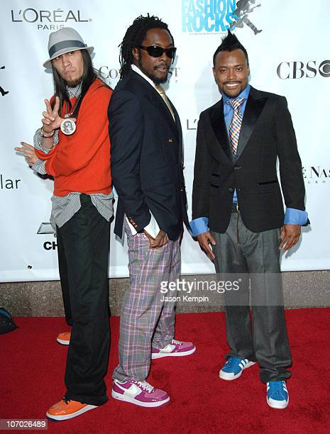 Black Eyed Peas during Conde Nast Media Group Kicks off New York Fall Fashion Week with 3rd Annual Fashion Rocks Concert Arrivals at Radio City Music...
