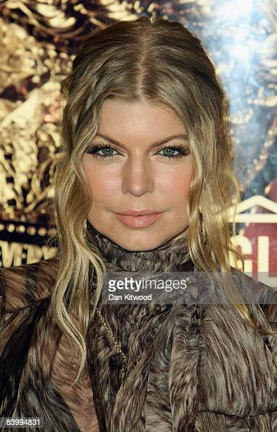 Black Eyed Peas singer Fergie makes an appearance at Selfridges department store on December 11 2008 in London England