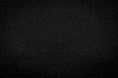 Black fabric texture background. Detail of dark textile.