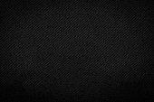 Black fabric texture background. Detail of dark textile.