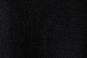 Black fabric texture. Dark textile pattern background. Detail of cotton material.
