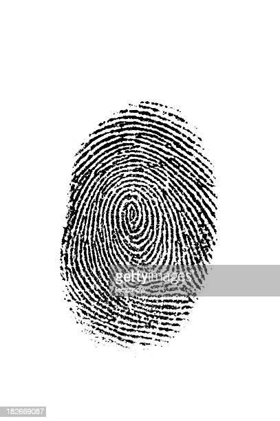 Nero delle impronte digitali su bianco