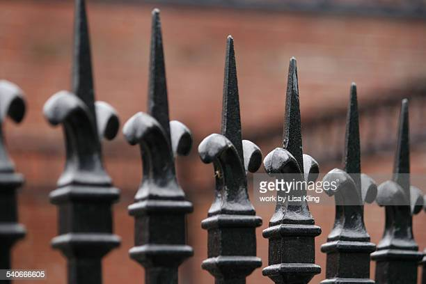 Black Fleur de Lis Wrought Iron Fence Finials