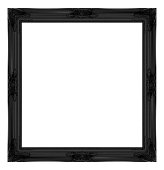 black frame isolated on white background.