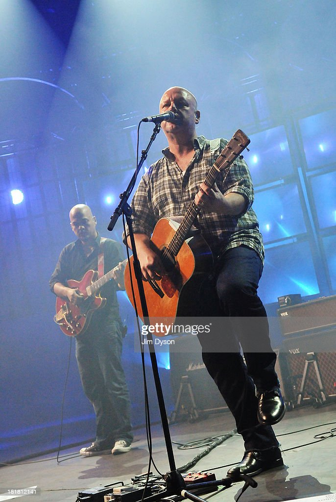 Black Francis and <a gi-track='captionPersonalityLinkClicked' href=/galleries/search?phrase=Joey+Santiago&family=editorial&specificpeople=241220 ng-click='$event.stopPropagation()'>Joey Santiago</a> of The Pixies perform live on stage on Day 25 of iTunes Festival 2013 at The Roundhouse on September 25, 2013 in London, England.