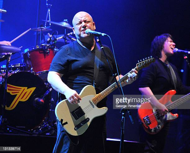 Black Francis and Kim Deal of Pixies perform in concert for the 'Doolittle' Tour at Massey Hall on April 18 2011 in Toronto Canada