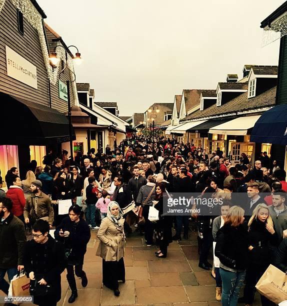 Black Friday at Bicester Village designer outlet shopping centre Oxfordshire UK Friday 28 November 2014