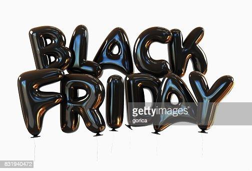 Schwarzer Freitag des schwarzen Heliumballons : Stock-Foto