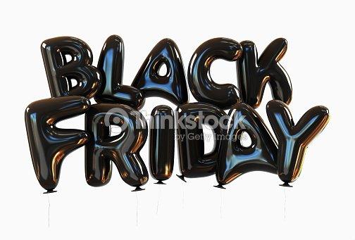 black friday made of black helium balloons foto de stock thinkstock