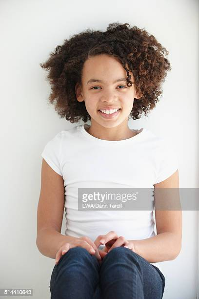 Black girl smiling