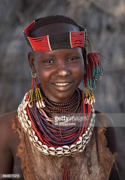 Black girl wearing traditional jewelry