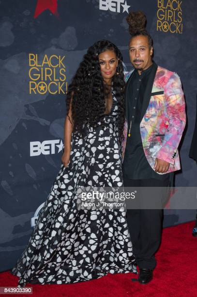 Black Girls Rock Founder Beverly Bond and Bazaar Royale attend Black Girls Rock at New Jersey Performing Arts Center on August 5 2017 in Newark New...