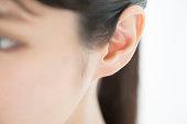 A Japanese woman's left ear.