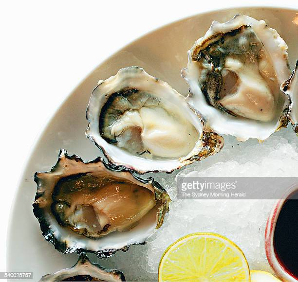Black Label Oysters from Tasmania served at Wildfire Restaurant 10 February 2004 SMH Picture by QUENTIN JONES