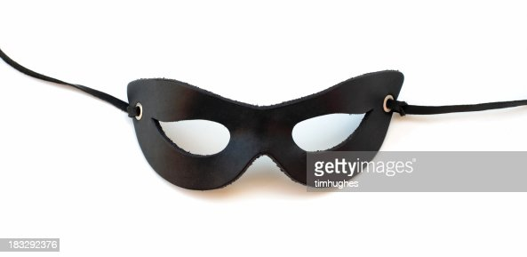 Black leather catmask