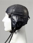 Black leather flying helmet type 6F/162 with Gosport tubes made for the Air Ministry At the outbreak of WWII flying helmets had changed little since...