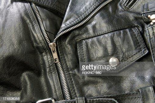 Schwarze Biker-Jacke aus Leder