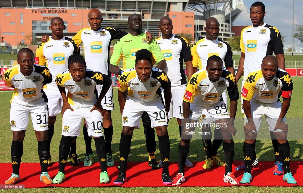 Black Leopards team photo during the Absa Premiership match between Black Leopards and University of Pretoria at Old Peter Mokaba Stadium on April 27, 2013 in Polokwane, South Africa.