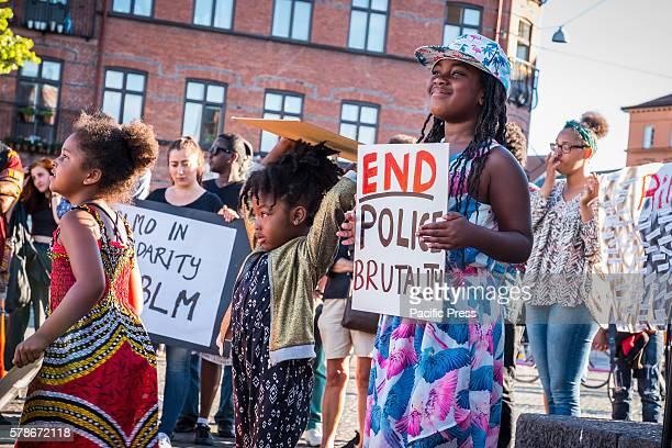 MöLLEVåNGSTORGET MALMö SKåNE SWEDEN Black Lives Matter demonstration