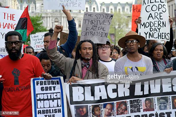 Black Lives Matter March and Protest in Philadelphia, PA