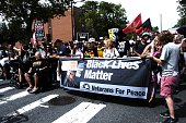 Black Lives Matter protesters marched from Temple University to FDR park to protest the DNC demanding an end to racist policing police accountability...