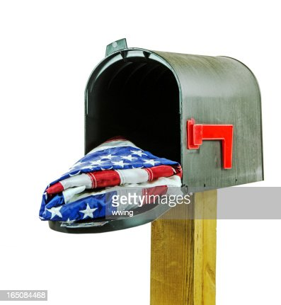 Black briefkasten mit usaflagge stock foto getty images for American briefkasten