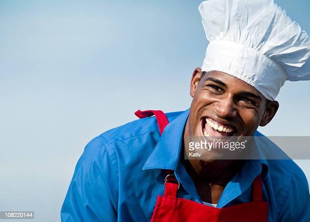 Black Male Chef Smiling
