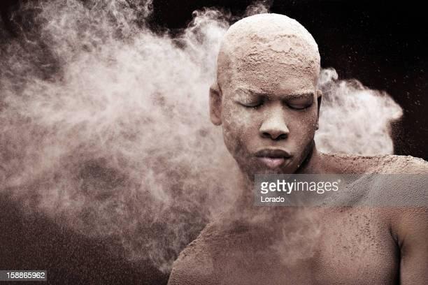 Maschio nero modello splash contro la polvere