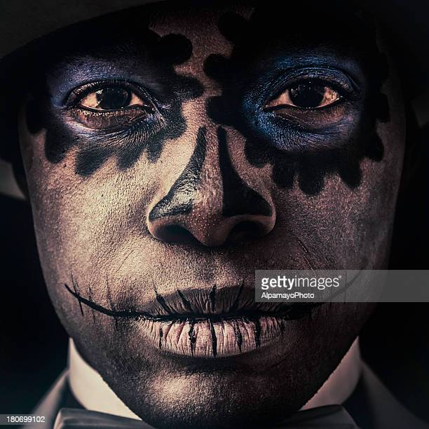 Black man with Sugar Skull makeup on his face (VII)