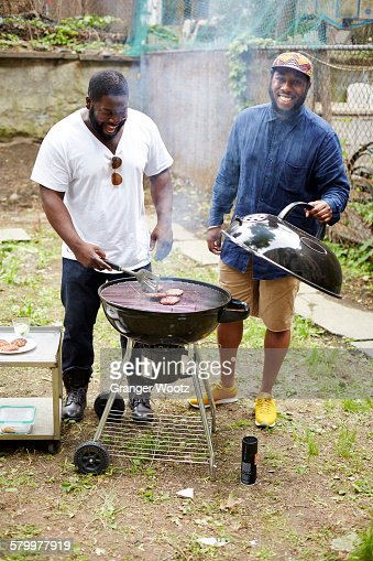 Hipster Backyard Bbq : African American Man Grilling Stock Photos and Pictures  Getty Images