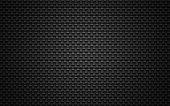 Black steel mesh background. Wicker pattern.
