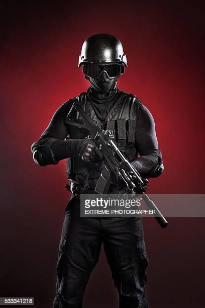 Black military man