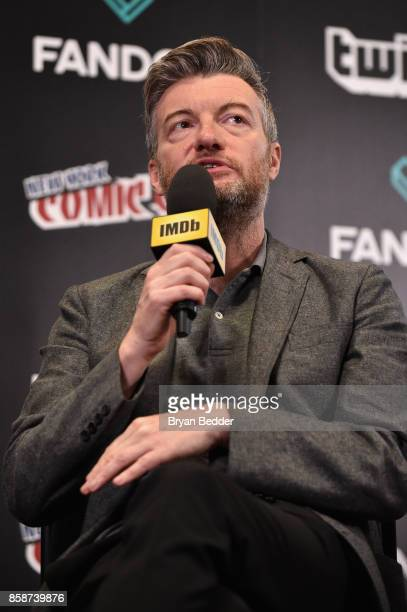 Black Mirror Creator writer producer Charlie Brooker speaks onstage during IMDb LIVE at NY ComicCon at Javits Center on October 7 2017 in New York...
