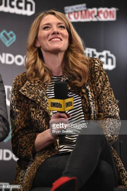 Black Mirror Executive Producer Annabel Jones speaks onstage during IMDb LIVE at NY ComicCon at Javits Center on October 7 2017 in New York City