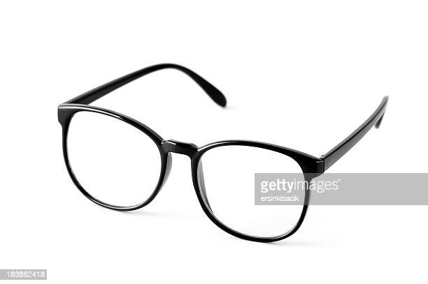 Black nerd spectacle frames