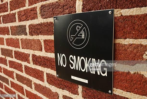 Black no smoking sign