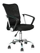 black office chair isolated on white with clipping path