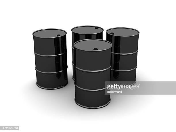 Schwarze Barrel Öl