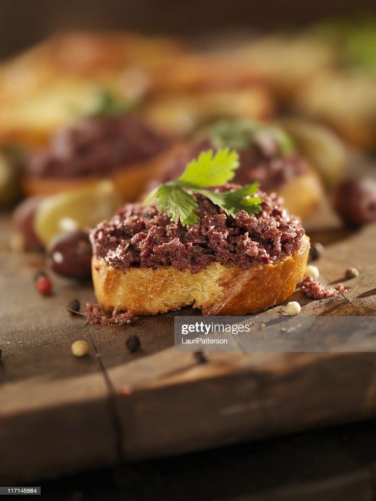 Black Olive Tapenade : Stock Photo