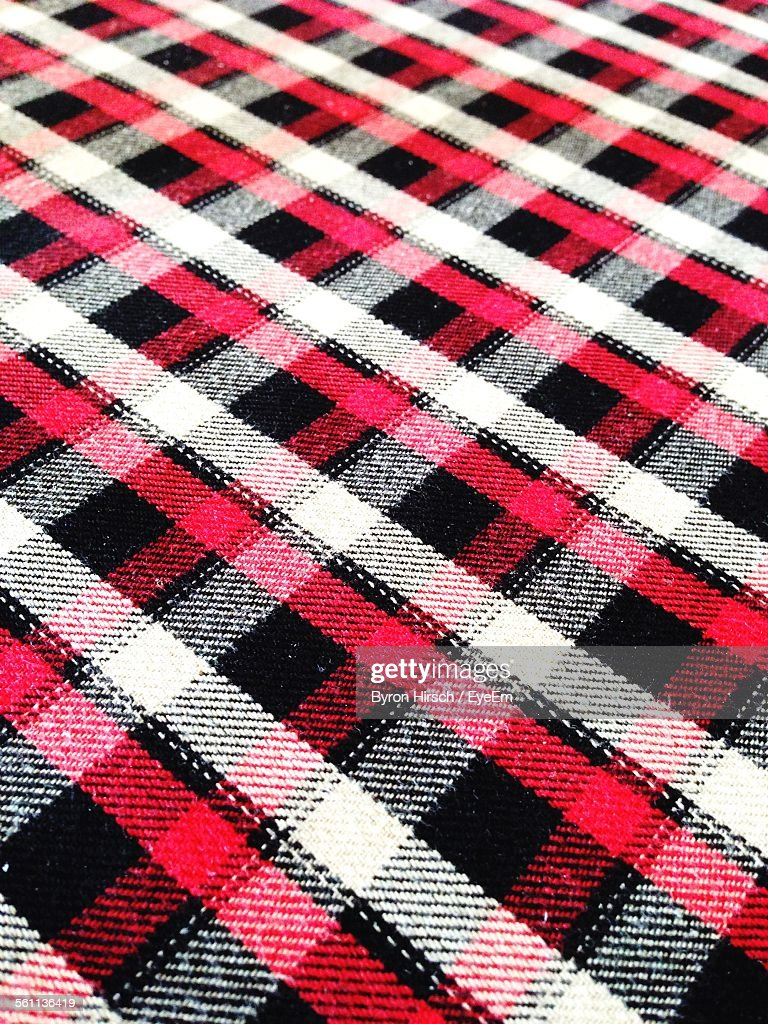 Black, Red And White Textile Pattern