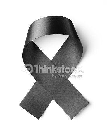Black Ribbon Isolated On White Background Photo High Resolution