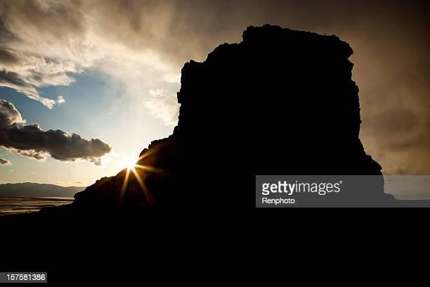 Black Rock bei Sonnenuntergang in Utah