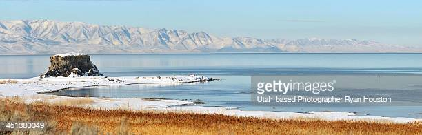 Black Rock Panorama near Great Salt Lake Marina