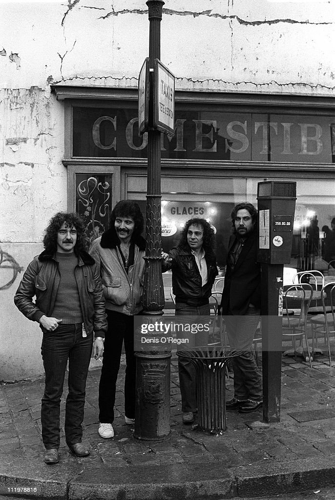 Black Sabbath in Paris, during the recording of the 'Heaven & Hell' album, 1979. The album was Ronnie James Dio's first with the band.