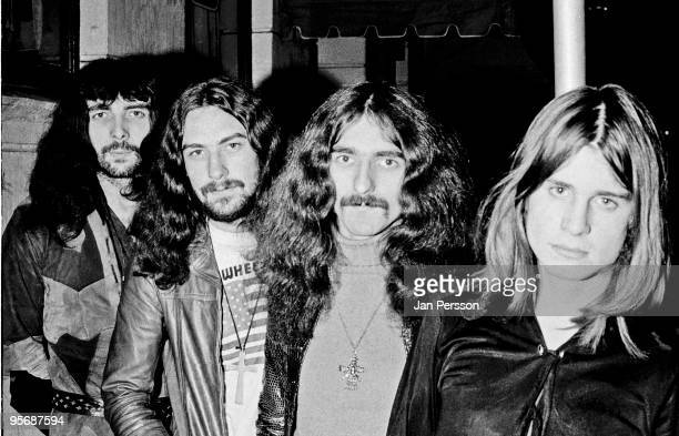 Black Sabbath posed in Copenhagen Denmark on December 12 1970 LR Tony Iommi Bill Ward Geezer Butler Ozzy Osbourne