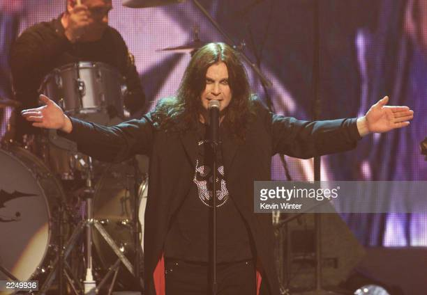 Black Sabbath with lead singer Ozzy Osbourne performed live at the 'ESPN Action Sports and Music Awards' at the Universal Amphitheatre in Los Angeles...