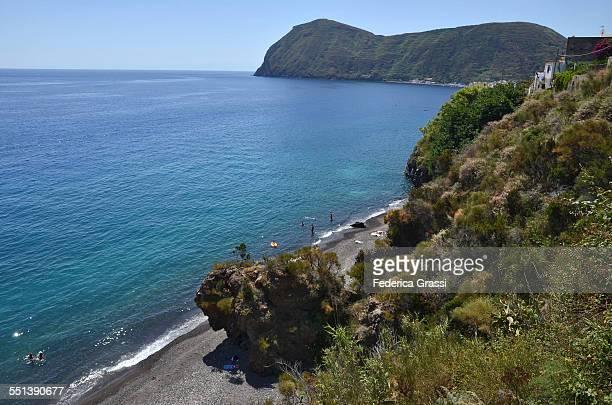 Black Sand Beach, Canneto, Lipari island