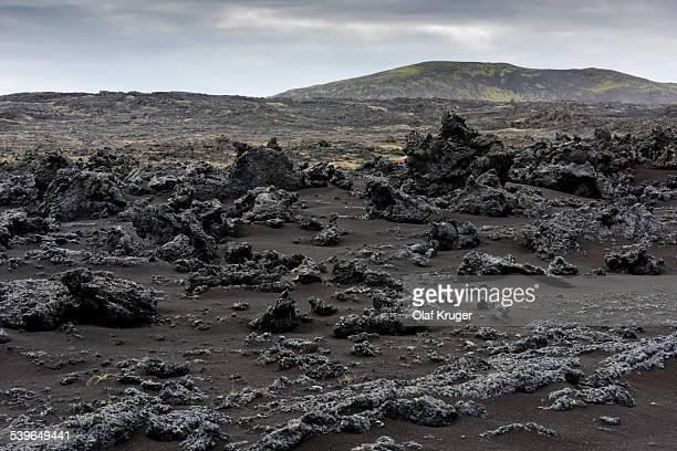 Black sand, lava, Reykjanesskagi, Southern Peninsula or Reykjanes, Iceland