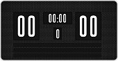 Digitally generated black scoreboard with no score