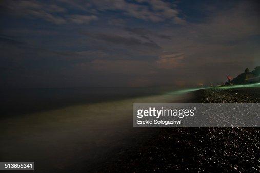 Black Sea at night